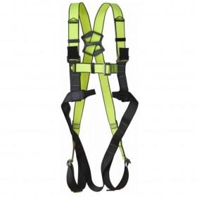 Harnais de sécurité jaune néon/noir V33 Adventure de VERTIQUAL avec sangles jaunes