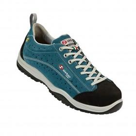 Chaussures basses de sécurité PASITOS S1 en cuir Nubuck bleu, embout alu, semelle PU | Taille 43
