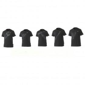 T-shirt noir avec impression d\'outils en 3D | Taille M