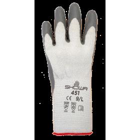 Gants de protection en tricot de coton SHOWA THERMO GRIP 451 | Taille M